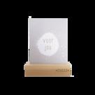 Zusss houten kaartenstandaard 12 cm