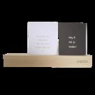 Zusss houten kaartenstandaard 31 cm
