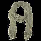 Zusss nonchalante sjaal met franjes groen