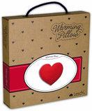 verpakking van het Leschi warmte kussen hart van rood/wit gestipt fleece
