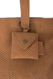 detailfoto van de bruin geschubde royale handtas van Zusss