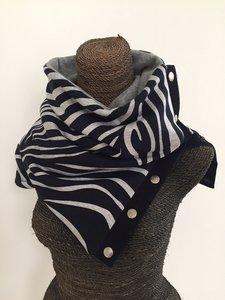 colsjaal zebra blauw van leuk voor uit & thuis
