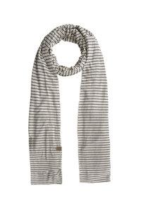 zwart/zand gestreepte sjaal van Zusss