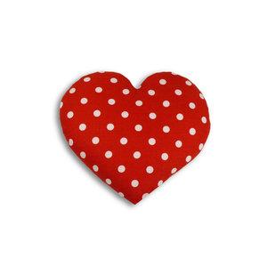 Leschi warmte kussen hart van rood/wit gestipt fleece