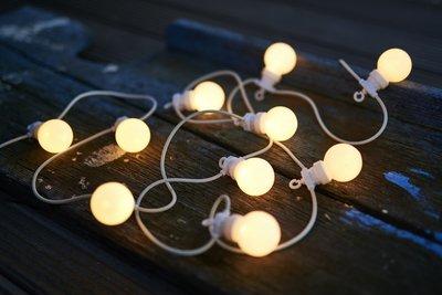 Sirius Oscar lichtsnoer startset frosted/warm licht wit