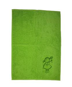 Kinderhanddoek Rube en Rutje groen