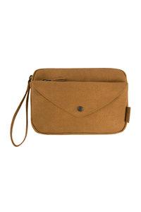 voorzijde van de handige portemonnee-clutch camel van Zusss