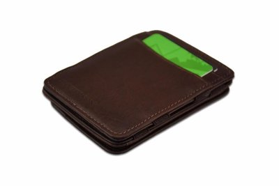 de hunterson magic wallet met muntvakje bruin
