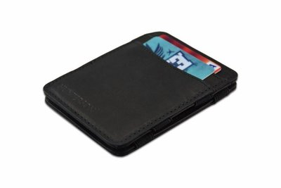 voorzijde van De hunterson magic wallet zwart
